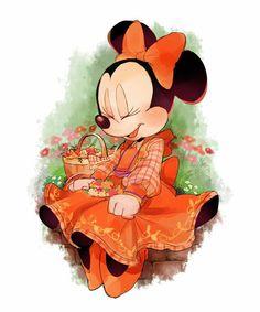 Minnie vestido laranjinha