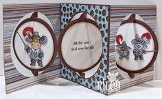 StampOwl's Studio: All for One .... for ECD using Karen Burniston dies; Apr 2015