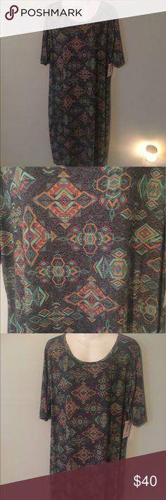#LuLaRoe #Julia #Dress #Aztec Print 2XL #Comfy NWT #LuLaRoe #Julia #Dress #Aztec Print 2XL #Comfy NWT LuLaRoe Dresses