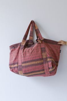 Vintage Saree Beach Bag