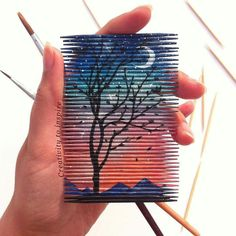 Fabulous Drawing On Creativity Ideas. Captivating Drawing On Creativity Ideas. Popsicle Stick Art, Creative Artwork, Craft Stick Crafts, Cool Drawings, Drawings With Sharpies, Diy Art, Art Sketches, Painting & Drawing, Amazing Art