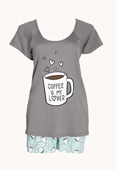 Coffee Lover PJ Set | FOREVER 21 - 2000108154