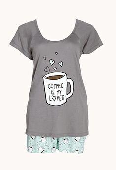 Coffee Lover PJ Set   FOREVER 21 - 2000108154