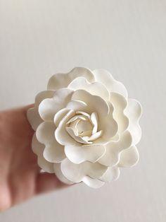 Ivory #Camellia Bridal Hair Clip Wedding Hair Flower by parsi