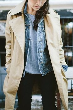 5 New Ways to Wear Your Denim Jacket This Fall via @PureWow