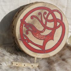 Urnes Dragon Drum by Thorskegga, via Flickr