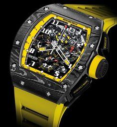Richard Mille's $170k RM011 Yellow Storm