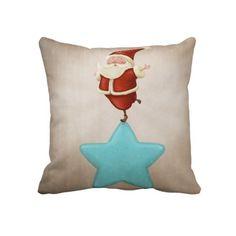 Equilibrist Santa Claus Throw Pillow.  $59.95