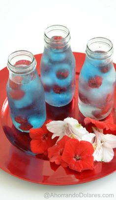 Prepara una económica y divertida bebida de verano refrescante siguiendo estos pasos #shop #PriceChopperBBQ . Bebida patriótica para el 4 de julio.