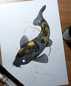 Day A starry Koi. Now Hellinger is termed the dad of Art And Illustration, Illustrations, Painting Inspiration, Art Inspo, Animal Drawings, Art Drawings, Kunst Inspo, Arte Obscura, Dark Art