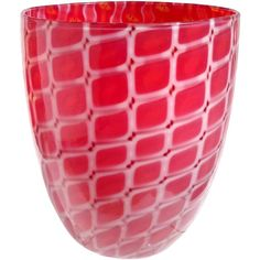Archimede Seguso Murano Red White Opal Italian Art Glass Flower Vase   From a unique collection of antique and modern vases and vessels at https://www.1stdibs.com/furniture/decorative-objects/vases-vessels/