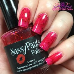 "Polish and Paws: ""Ruby Slippers"" by Sassy Pants Polish The Wizard of Oz Collection ~ Holiday 2015"