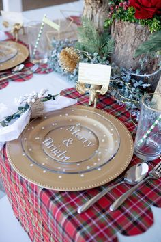 DIY Christmas Place Setting