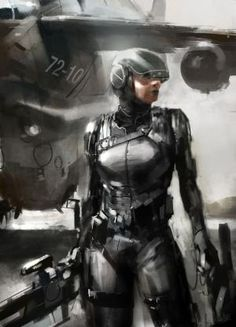 Transit by *Gryphart # cyberpunk, robot girl, cyborg, futuristic, android, sci-fi, science fiction, cyber girl, digital art by Maiden11976
