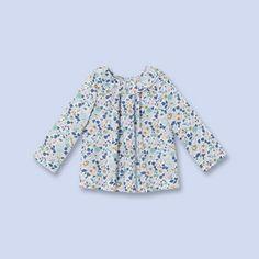 Blouse en tissu Liberty BLEU/MULTICO Fille - Vêtement Bébé - Jacadi Paris