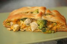 Broccoli Chicken Braid dinner recipe: I started making this long before pinterest started and friends would come over just to have my chicken braid :)