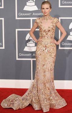 Golden Goddess Taylor Swift  2012 grammys