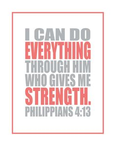Free Printable {Memory Verse Mania}: Philippians 4:13