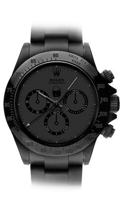 ROLEX - The iconic watch designer has grown to become a symbol of success, taste and wealth. A gorgeous Rolex on your wrist means everything! Stylish Watches, Luxury Watches For Men, Cool Watches, Rolex Watches For Men, Black Watches, Wrist Watches, Rolex Daytona, Montres Hugo Boss, Herren Chronograph