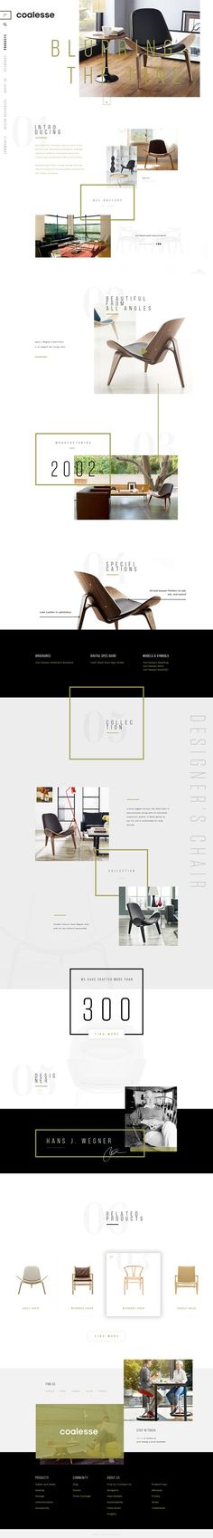 Coalesse Concept Website