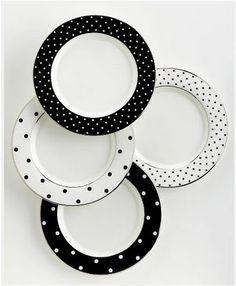 Dot to dot: Kate Spade dinnerwear.