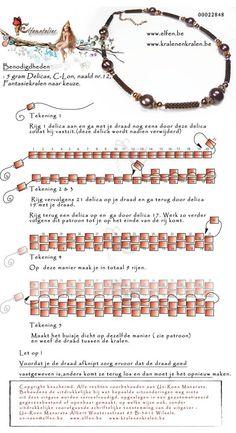 FREE Peyote Rope Tutorial from Elfenatelier. Use: 5g Delica (tube) seed beads