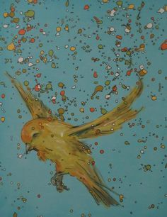 Canary drip art, mch artwork Drip Art, Messy Art, Artwork, Painting, Work Of Art, Painting Art, Paintings, Painted Canvas
