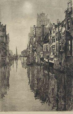 Dordrecht-Inner-Harbour-Etching-Jan-Sirks.jpg (1280×1992)