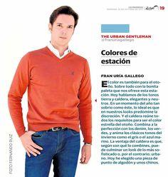 El color es para el otoño, también. Hoy hablamos de los colores tierra y caldera, que combinan a la perfección con los tonos denim, verdes, y animan el gris o el azul marino. La ventaja del color caldera es que, según con qué lo combines, puede culminar un look de lo más sofisticado o, por el contrario, más urbano. ¿Te gusta?   #SantaGallego #moda #hombre #otoño #madeinspain #prensa Periódico: Las Provincias Foto: Fernando Ruiz