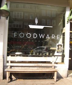 Foodware / Westerstraat / great take-out Restaurant Branding, Restaurant Bar, Display Design, Store Design, Food Retail, Window Graphics, Wayfinding Signage, Food Places, Environmental Graphics