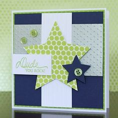 cute boy card, and of course, some of my favorite colors!