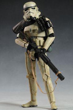 Sandtrooper, Dewback sixth scale figure by Sideshow Star Wars Boba Fett, Star Wars Clone Wars, Star Wars Art, Lego Star Wars, Star Trek, The Trooper, Storm Troopers, Star Wars Outfits, Star Wars Models