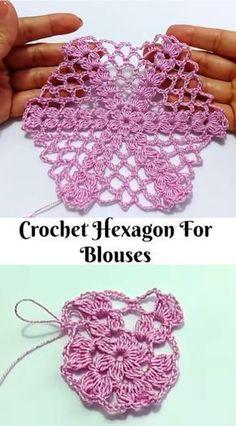 crochet hexagon for blouses