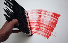 cool way to use all those small paintbrushes