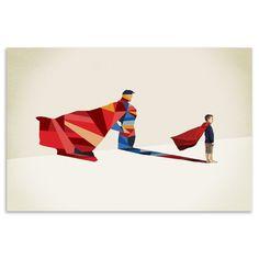 Jason Ratliff - Walking Shadow Superman, Fine Art Print, 40x28cm   ACHICA