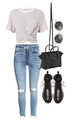 """""""Untitled #4769"""" by lilaclynn ❤ liked on Polyvore featuring T By Alexander Wang, Balenciaga, Ray-Ban, AlexanderWang, HM and rayban"""