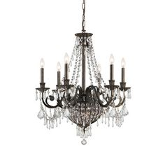 Crystorama Majestic Collection 3-light Historic Brass Semi-flush Mount | Overstock.com Shopping - The Best Deals on Flush Mounts