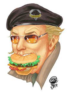 Snake Metal Gear, Metal Gear Solid, Kazuhira Miller, Mgs V, Gears, Hamburgers, Buns, Gear Train, Burgers