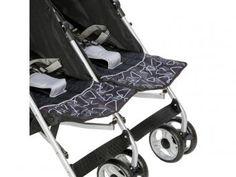 Carrinho de Bebê Passeio para Gêmeos Safety 1st - Double Ômega Black Reclinável até 15Kg