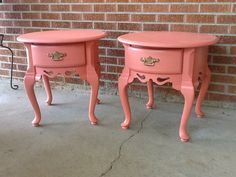 Pair of Georgia Peach Nightstands/end tables by florencescondo, $399.00