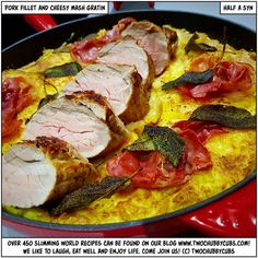 HALF A SYN pork fillet and cheesy mash gratin Healthy Eating Recipes, Cooking Recipes, Healthy Meals, Healthy Food, Pork Fillet, Seasonal Food, Slimming World Recipes, Pork Chop Recipes, Skinny Recipes