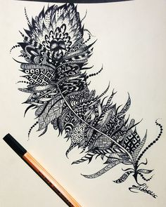 Feather .Tattoo design