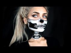 HALF SKULL & EXPOSED SPINE HALLOWEEN MAKEUP TUTORIAL                                                                                                                                                                                 More