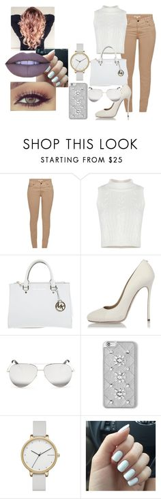 """White"" by kk-brat ❤ liked on Polyvore featuring Barbour, Michael Kors, Dsquared2, Victoria Beckham, MICHAEL Michael Kors, Skagen and Jeffree Star"