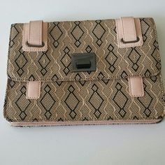 LOWEST $ BCBGeneration Clutch! Beautiful BCBGeneration clutch! Used twice. There is a mark which can be seen in the 4th photo otherwise prestine condition! For sale only no trades. Price firm BCBGeneration Bags Clutches & Wristlets