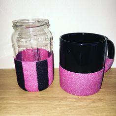 Glitter jar and mug #amysglitterandsparkles