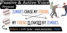 What is the difference between passive and active voice? Here is a clear visual guide that shows them in each tense - the past - the present - the future & the continuous. Click on the picture for an easy-to-follow lesson and worksheet on all the passive and active voice. Esl Grammar, Teaching English Grammar, Grammar Lessons, Active Voice, Subject And Verb, Document, Teaching Resources, Lesson Plans, The Voice
