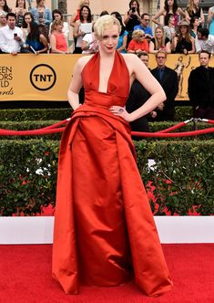 Game of Thrones and Star Wars Star Gwendoline Christie's Red Carpet Style