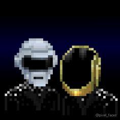 Pixel Faces - Daft Punk