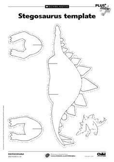 para imprimir y armar. Dinosaurio